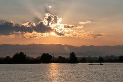 Sunset lake view Stock Image