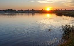 Sunset lake view. Stock Photography