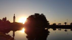 Sunset in Batumi Royalty Free Stock Photography