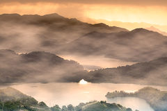 Sunset of Lake waist, the new Taipei, Taiwan Royalty Free Stock Photo
