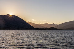 Sunset at Lake Wanaka Stock Photography