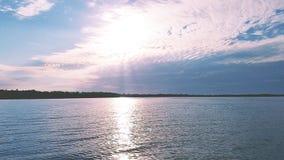 Sunset on the Lake. Sunset lake water Michigan great Lakes Stock Photo