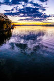 Sunset at lake wylie Royalty Free Stock Photo