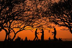 Sunset at lalbagh garden Royalty Free Stock Image