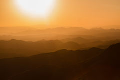 Sunset at Lalibela in Ethiopia stock photography