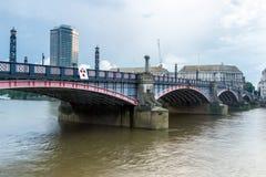 Sunset of Lambeth bridge, London, England. Great Britain Royalty Free Stock Photography