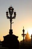 sunset lamp fotografia stock