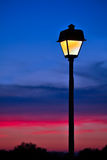 Sunset Lamppost Stock Photos