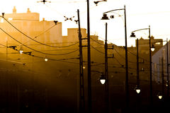 Sunset lamps Royalty Free Stock Image