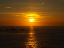 Sunset From Land's End Royalty Free Stock Photography