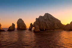 Sunset at Land's End, Mexico Royalty Free Stock Photography