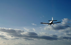 Sunset landing stock photography