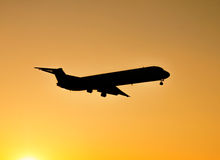 Sunset landing Stock Image