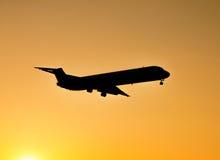 Sunset landing Stock Image