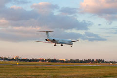 Sunset landing Stock Images