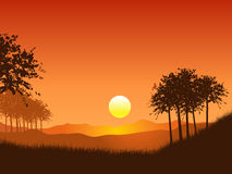 Sunset landscape Royalty Free Stock Photo