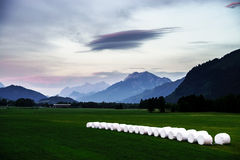 Sunset landscape in austrian Alps Stock Photos