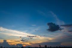 Sunset landscape background stock image