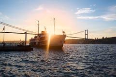 Sunset landscape of Bosphorus, Istanbul Stock Photo