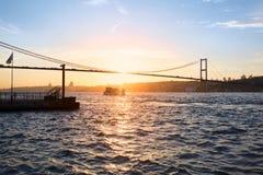 Sunset landscape of Bosphorus, Istanbul Stock Photography