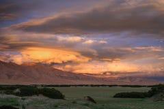 Sunset landscape of Central Tibet Stock Images