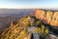 Sunset landscape of Grand Canyon from Desert View Point Stock Images