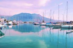 Sunset landscape at Kalamata Greece Stock Photos