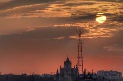 Sunset landscape of Lvov Royalty Free Stock Photo