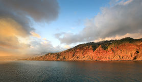 Sunset landscape, Funchal - Madeira island - Portugal Stock Photos