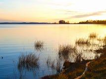 Sunset Landscape. A sunset landscape in Mississippi, USA stock photos