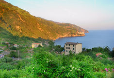 Sunset landscape of Monterosso Stock Images