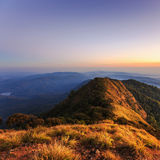 Sunset, landscape in mountains Stock Image
