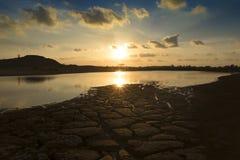 Sunset landscape. Natural sunset landscape and reflection Royalty Free Stock Image
