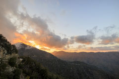Sunset landscape near Los Angeles country side Royalty Free Stock Photos