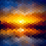 Sunset landscape pattern of geometric shapes. Colorful mosaic. T Royalty Free Stock Photos