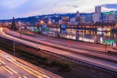 Sunset Landscape of Portland, Oregon, USA. Stock Photography