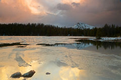 Sunset landscape in the Uinta mountains. Royalty Free Stock Photos
