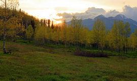 Sunset landscape in the Utah mountains. Stock Photography