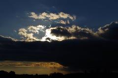 Sunset. On the landscape in west Bohemia, Europe stock image