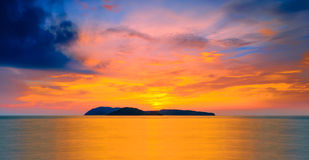 Sunset at langkawi. Scenery of sunset at the beach of langkawi Stock Images