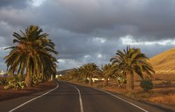 Sunset at Lanzarote Stock Photography