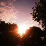 Sunset. Late on midsommer eve Royalty Free Stock Photos