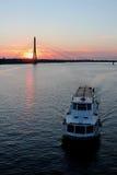 Sunset in  Latvia. Beautiful sunset in Riga, Latvia Royalty Free Stock Photos