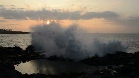 Sunset Lava Coast stock footage