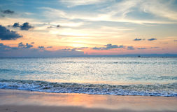Sunset at Laxmanpur Beach, Andaman and Nicobar, India Stock Photography