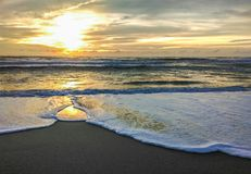 Sunset at Layan Beach, Phuket island Royalty Free Stock Image