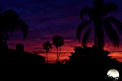 Sunset Layers royalty free stock images
