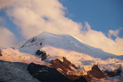 Sunset on le Mont Blanc Stock Photo