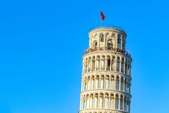 Sunset at the leaning tower of Pisa, Italy Royalty Free Stock Photography