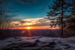 Sunset at Ledges Overlook stock photos